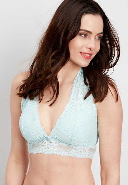 lace halter top bralette