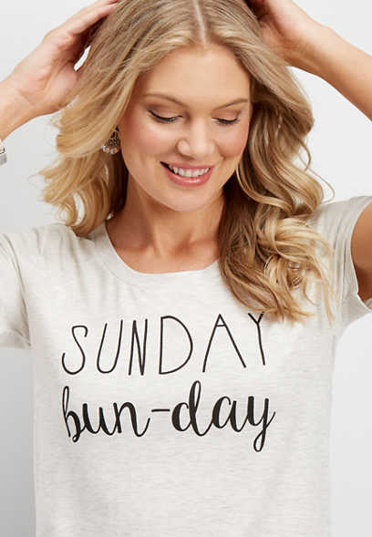 sunday bun-day graphic tee