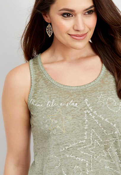 shine like a star graphic tank