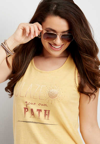 blaze your own path graphic tank