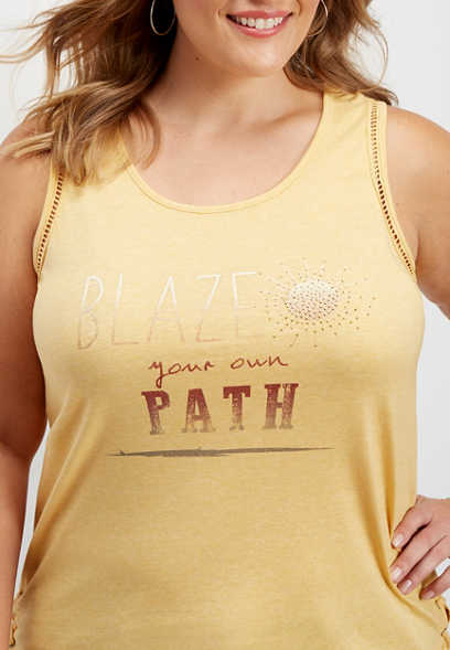 plus size blaze your path graphic tank