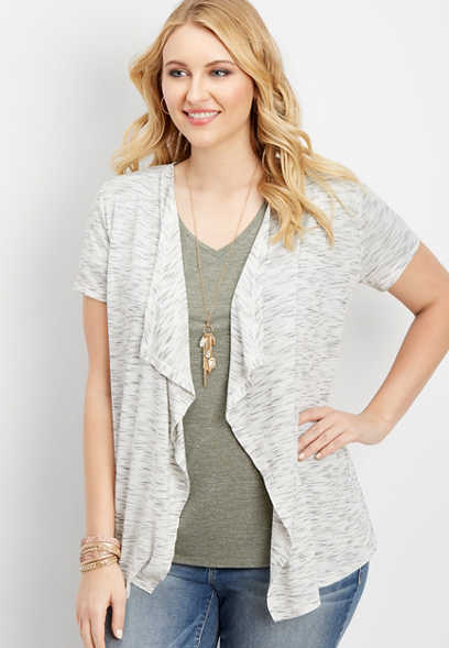 plus size spider web back cardigan