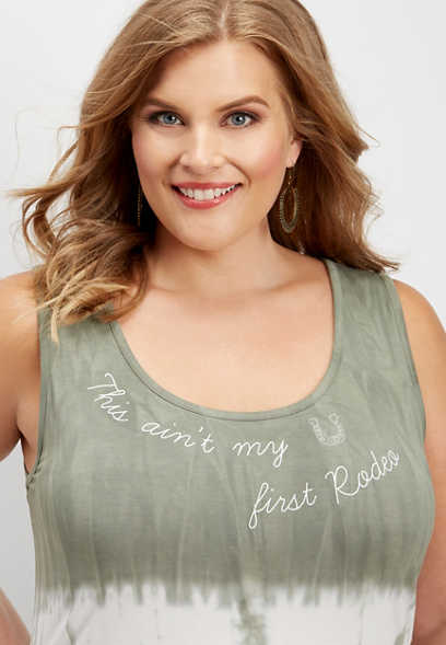 plus size first rodeo graphic tank
