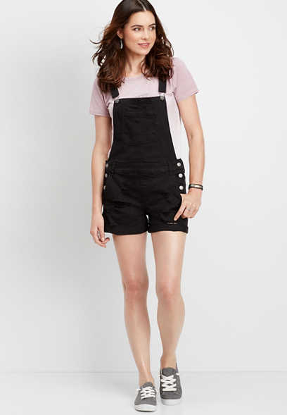 DenimFlex™ black short overall
