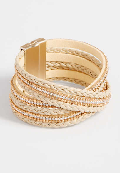 Maurices Braided Wrap Magnetic Bracelet