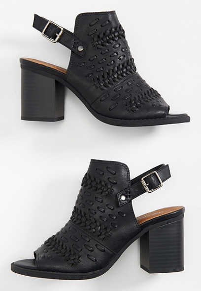 Courtney open toe stitch bootie