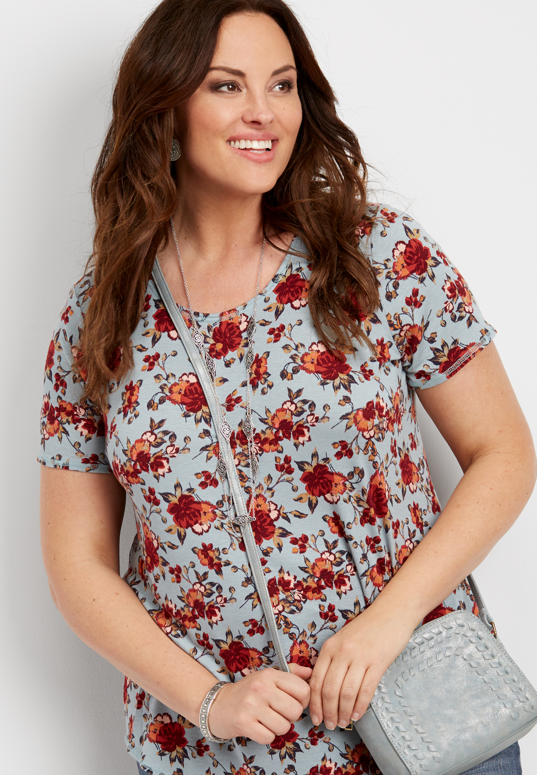 Plus Size - 24/7 Crew Neck Swing Tee Maurices