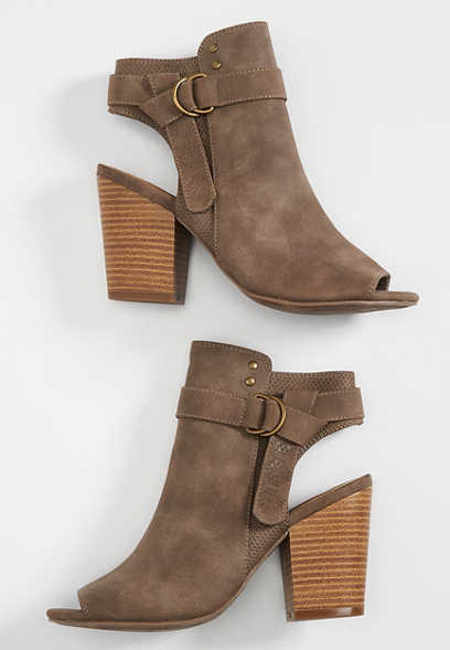 Charlotte side buckle bootie