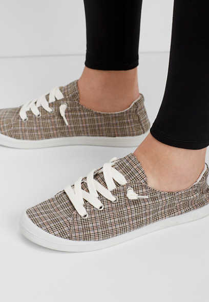 Hope lace up plaid sneaker