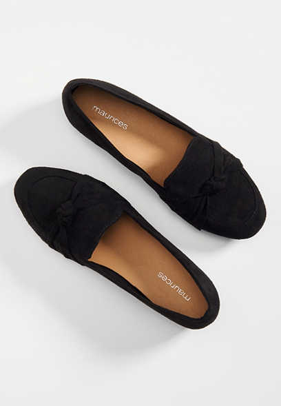 Hillary faux suede front knot flat