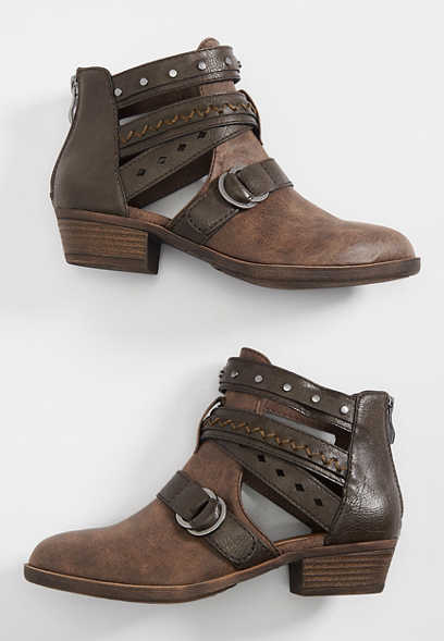 Callie multi buckle bootie