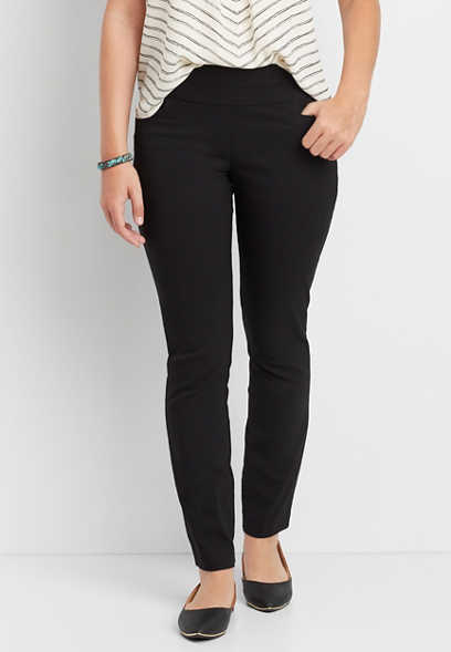 the pull on bengaline skinny ankle pant