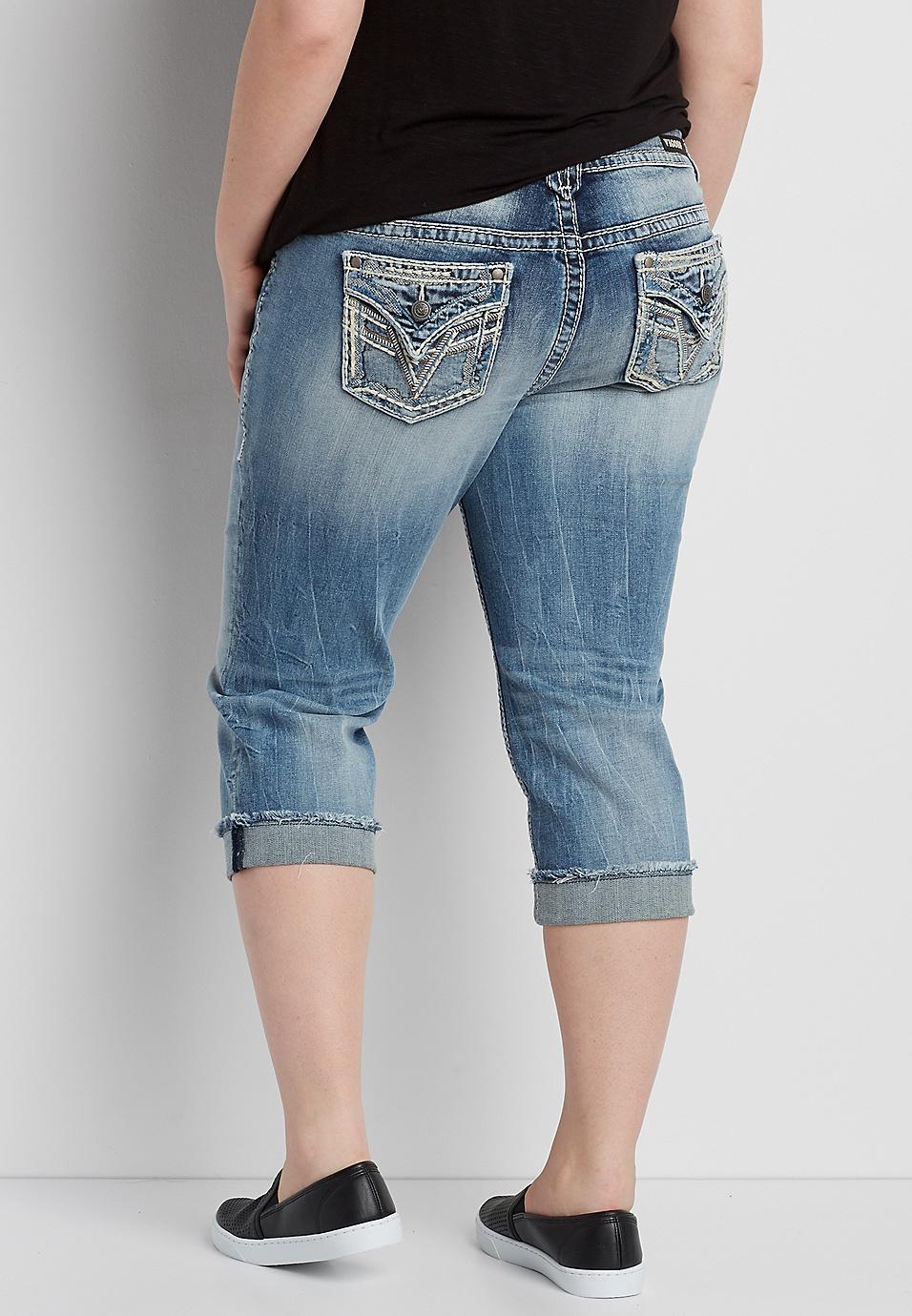 18c9a4bd236 Vigoss® plus size capri with back flap pockets