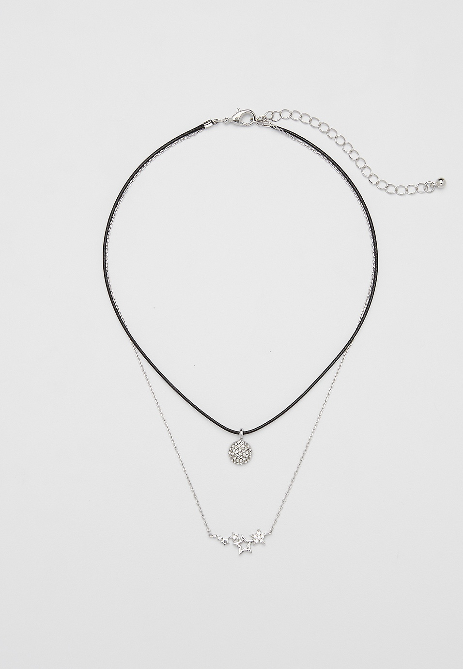 439c3f87a1d61 layered choker necklace with star cluster pendant | maurices