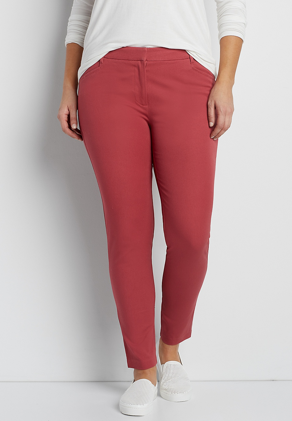 612c8a5589b the smart plus size round the clock skinny ankle pant