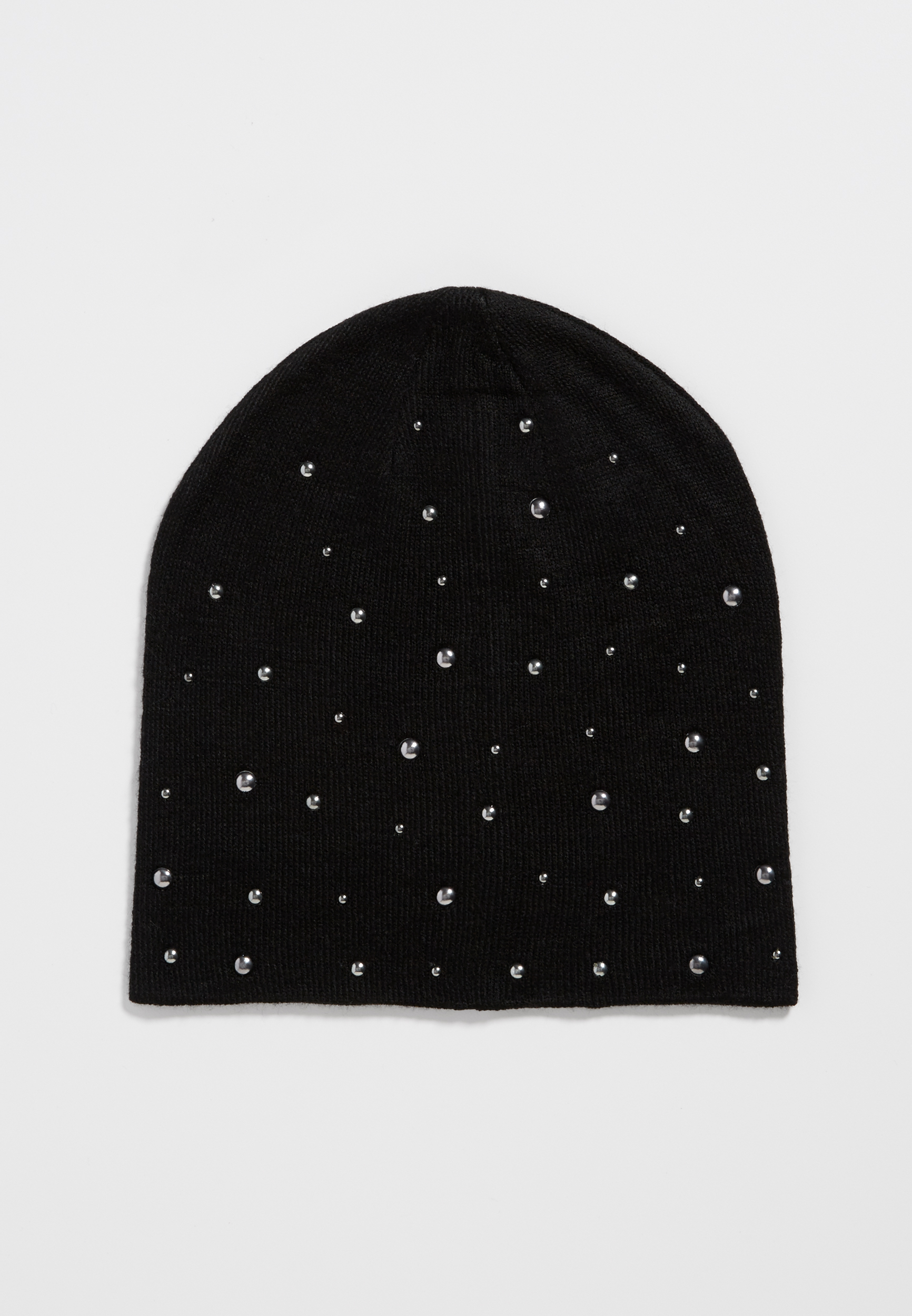 Knit Beanie With Studs...