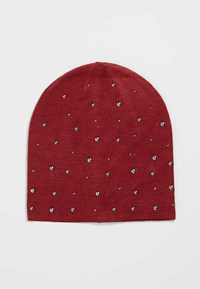 knit beanie with studs