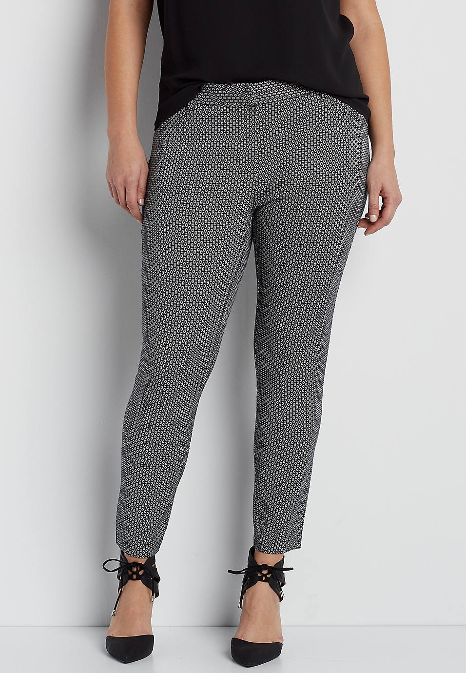 c9858735b4e the smart plus size diamond patterned round the clock skinny ankle pant