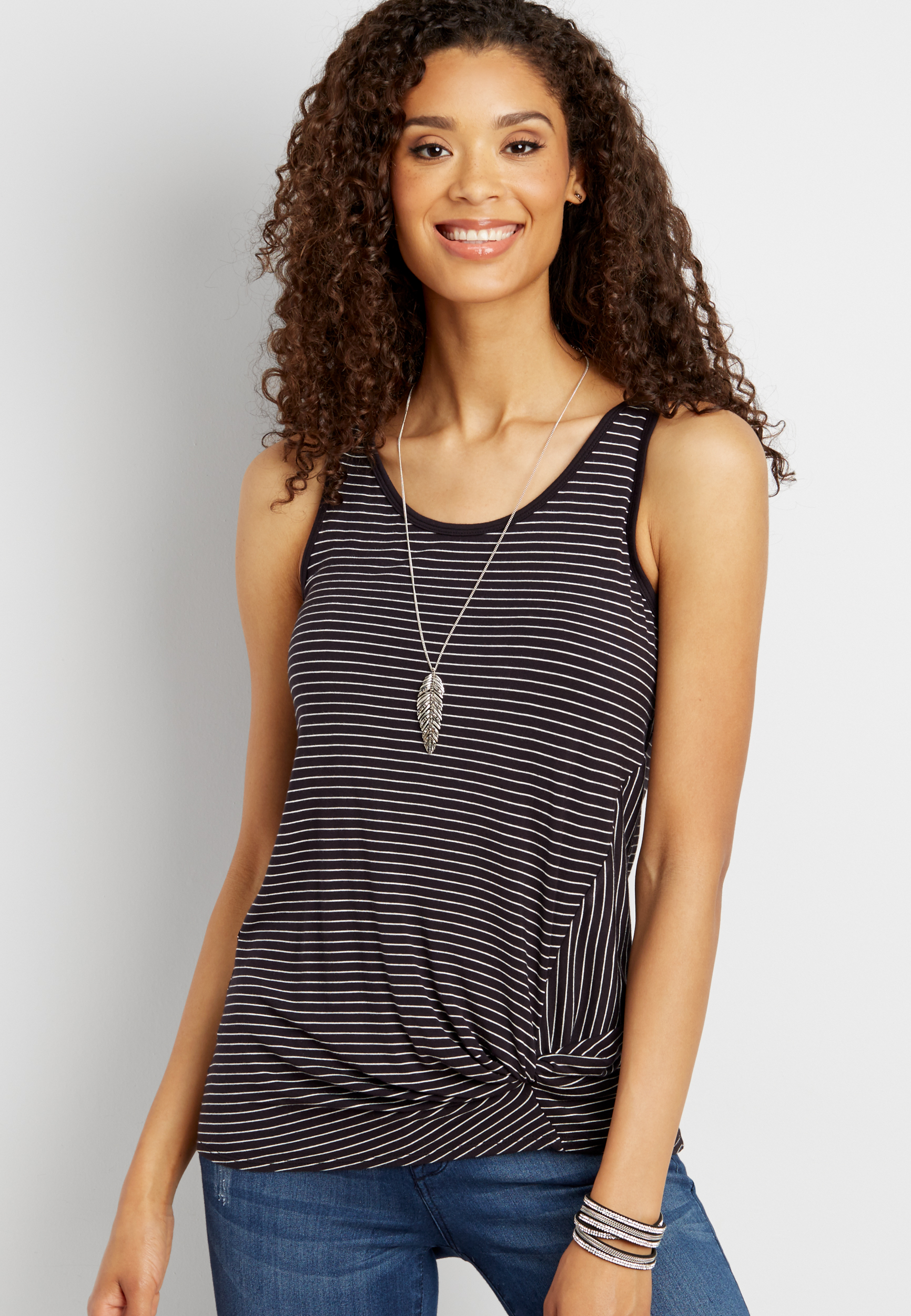 24/7 Floral Knot Front Tank Maurices