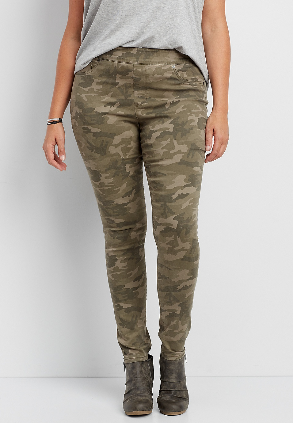 f00f2d5ead536 DenimFlex™ plus size pull on lean jegging in camo print | maurices