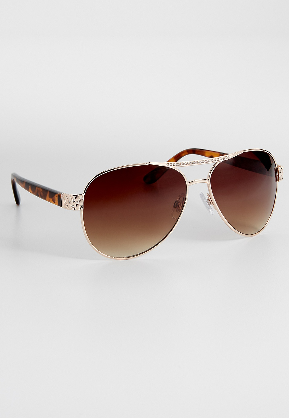 8a8dfdbf55eb aviator sunglasses with rhinestones