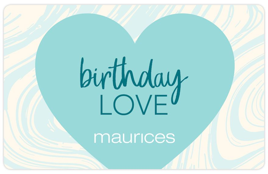 maurices Birthday Love Gift Card