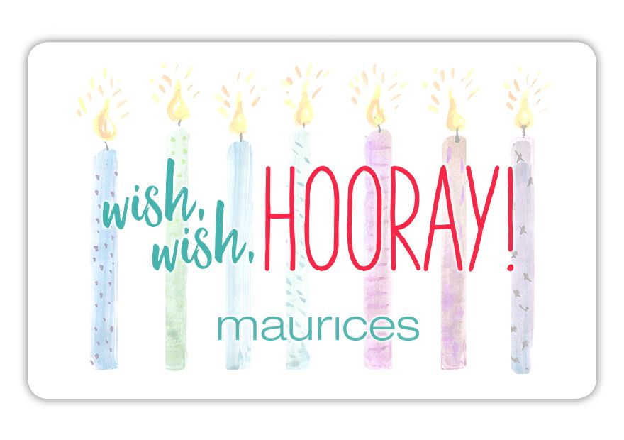 maurices SPR18_BD_HOORAY Gift Card