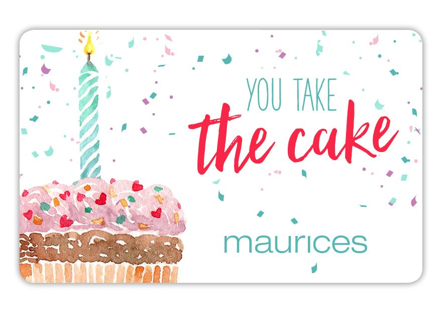 maurices SPR18_BD_CAKE Gift Card