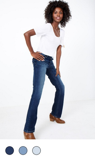 boot cut available in multiple colors