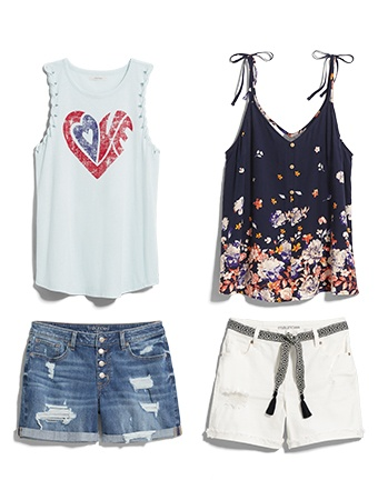 tanks and shorts for every day. it wouldn't be summer without them!