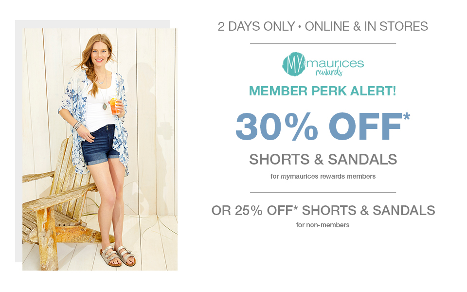 maurices women\u0027s fashion clothing for sizes 2 24 maurices2 days only, online and in stores, mymaurices rewards member perk alert! 30