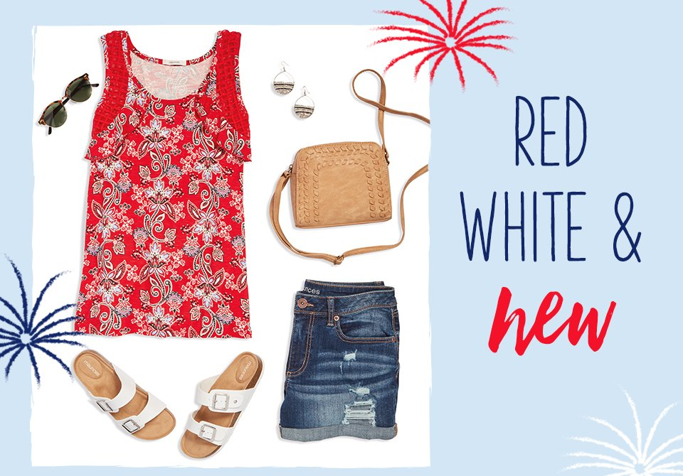 red white and new