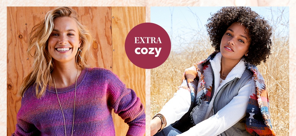 the extra cozy edit. everybody's been feeling our super-snuggly bestsellers.