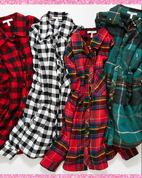 doorbuster. online and in stores. $15 so-soft flannels*. was $29-$39.90. go mad for plaid in our silky-soft new fabric.