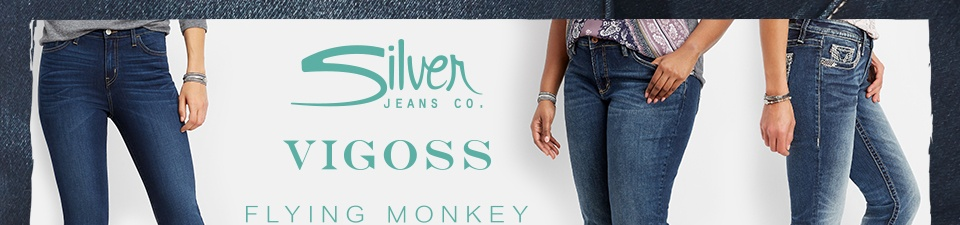 silver jeans co., vigoss, flying monkey
